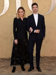 A stylish duo: Brie Larson and fiancé Alex Greenwald