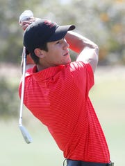 Charlie Reiter of Palm Desert High School participates in the DVL Boys' Final at the Classic Golf Club in Palm Desert on April 26, 2018.