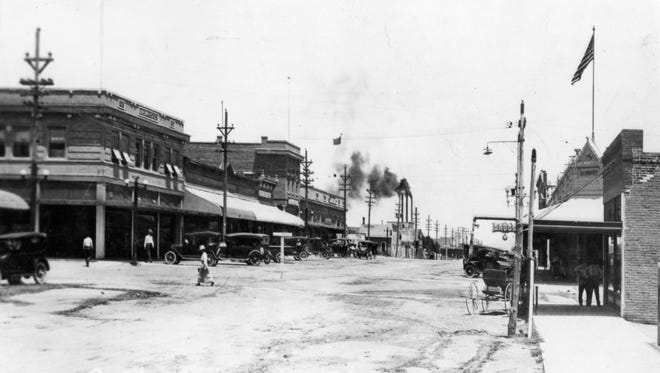 Gold Street looking north in the early 1900's. Many of the buildings in the photo have been renovated but their original foundations still stand.
