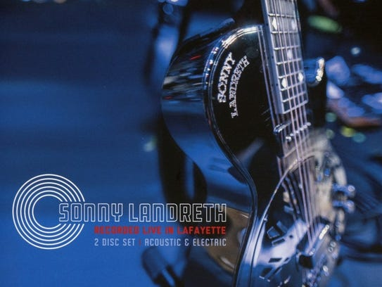 """Sonny Landeth's """"Recorded Live in Lafayette,"""" a two-CD"""