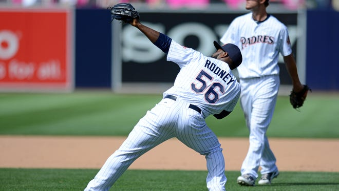 Fernando Rodney has 17 saves in as many opportunities this year.