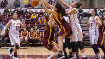 Saturday action from the State B girls' basketball tournament in Missoula.