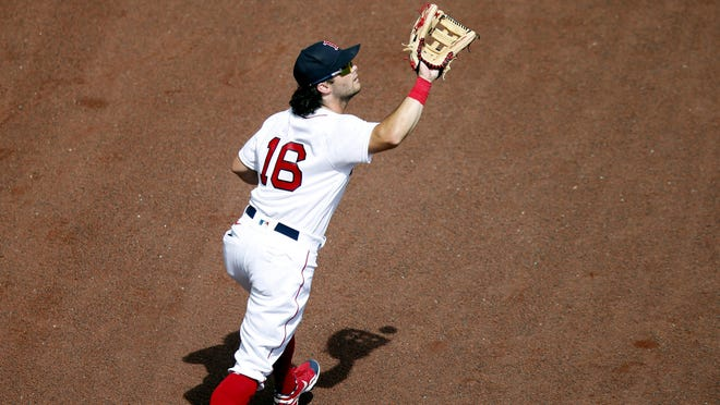 Andrew Benintendi was back in the Red Sox lineup on Monday.