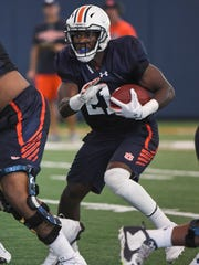 Kerryon Johnson ended spring ball with an ankle injury