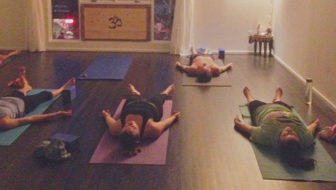 """The ancient yogis say that Savasana, """"corpse pose,"""" is the whole point of the yoga experience."""