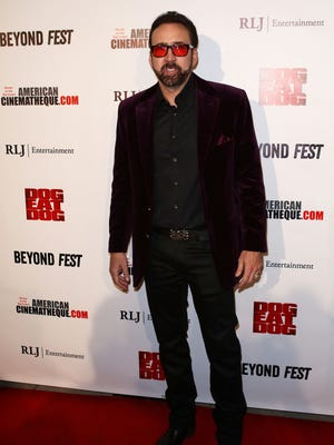 Nicolas Cage at the screening of 'Dog Eat Dog' held at the Egyptian Theatre on September 30, 2016 in Hollywood, Calif.