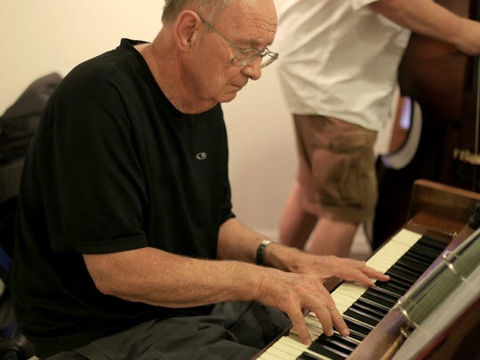Jay Christensen plays the piano on Sept. 20 at the Big D Jazz Jam at the DiFiore Center in St. George.