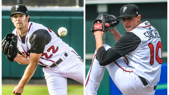 Current Detroit Tigers pitcher Daniel Norris, left, and Blue Jays starter and 2016 AL ERA leader Aaron Sanchez are among the major league players groomed by the Lansing Lugnuts during their affiliation with the Toronto Blue Jays.