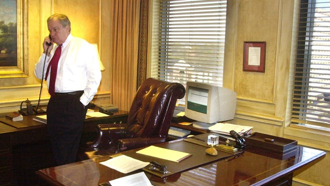 Jimmie Stewart, partner in Ogletree Deakins law firm, pictured on April 2, 2002.