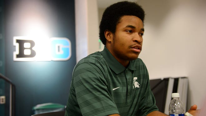 Early enrollee Josiah Scott speaks to the media during Signing Day press conference on Wednesday, Feb. 1, 2017 at Spartan Stadium.