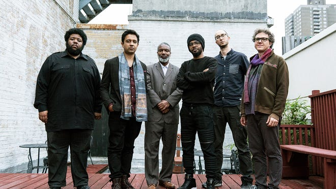 Pianist Vijay Iyer (second from left) and his band — drummer Marcus Gilmore, horn player Graham Haynes, tenor saxophonist Mark Shim, alto saxophonist Steve Lehman and bassist Stephan Crump — will close Lawrence University's 2017-18 Jazz Series.