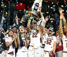 South Carolina celebrates its national championship.