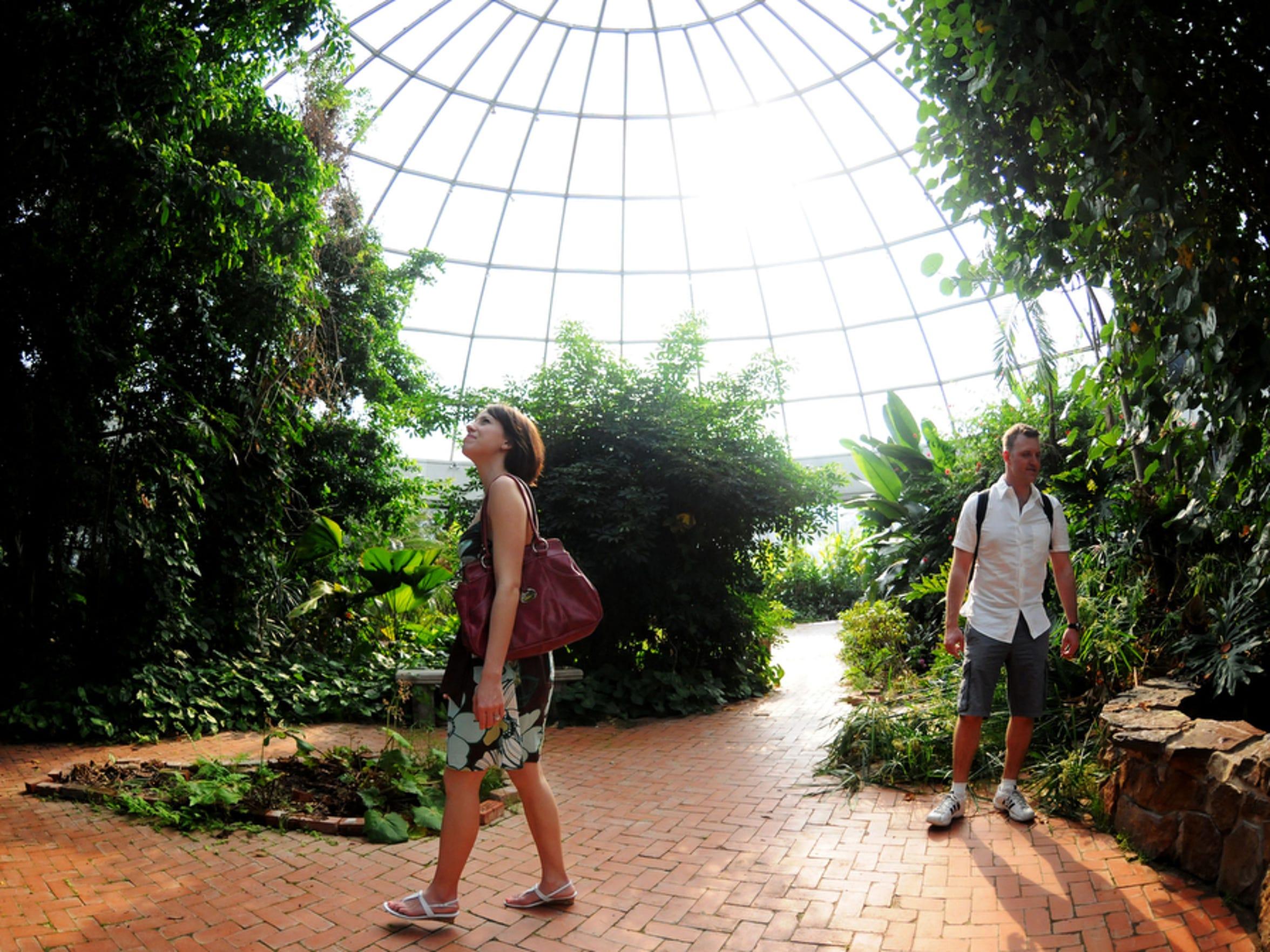 Aaron and Christina Tillman explore the Barnwell Center