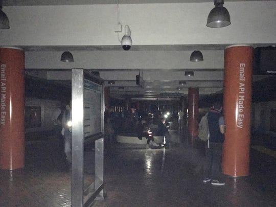The Montgomery Bay Area Rapid Transit station is dark