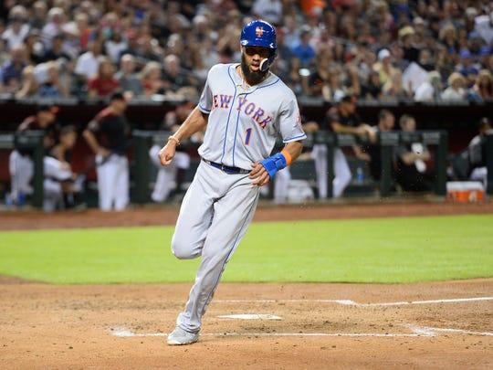 Jun 16, 2018; Phoenix, AZ, USA; New York Mets shortstop