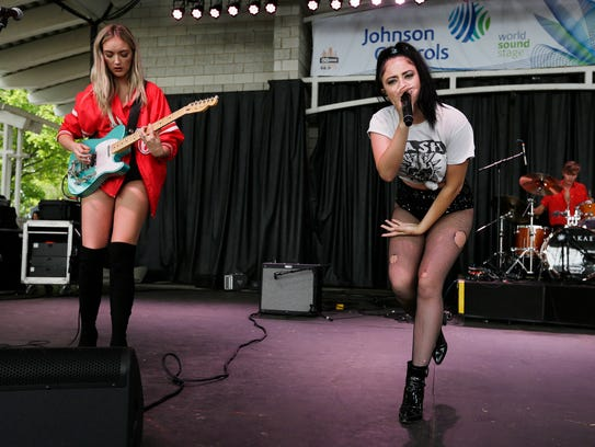 The Atomics performs at Summerfest's Johnson Controls