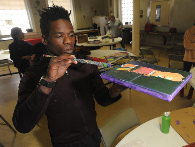 "Aurora Studio , temporarily operating at the the Haywood Street Central  United Methodist Church campus,  looks to ""providing a supportive art studio for artists affected by mental health needs, homelessness, and/or addiction"" to facilitate healing and thriving. Artist Chester Lee II and the following artists particpate in the program. Lee's artist name is Rage Madness. He has been homeless for two years and is working on a book titled Starving Artists. A Haywood Street Congregation posting says his artist name is to ""show how to express anger through artwork and creativity.""  The studio will hold an auction of art work from students and local artists on May, 18,  from 5:30 to 8:30 pm. at the Asheville Community Theater. John Coutlakis (archived 4-30-14)"