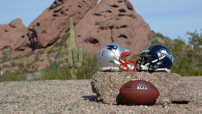 Super Bowl XLIX between the Patriots and Seahawks will be played at University of PHoenix Stadium.