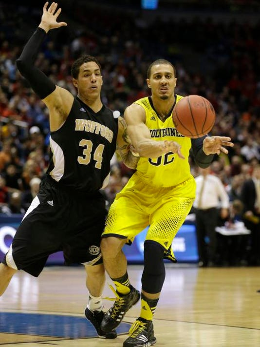 NCAA Wofford Michigan Basketball