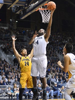 Tyler Wideman goes up for a basket against Kennesaw State.