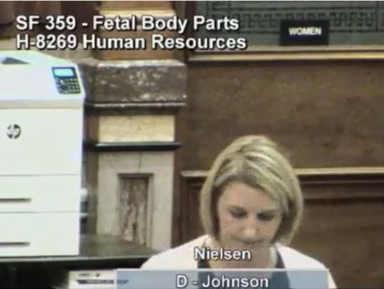 When Rep. Amy Nielsen spoke in debate about the fetal