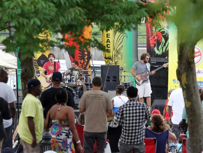 Spokey Speaky at the Peoples' Festival last year. The band's annual birthday concert for Bob Marley has become a tradition.