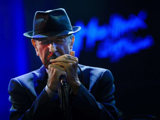Leonard Cohen performs at the Auditorium Stravinski