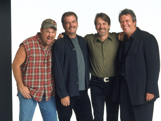 Glory days: Comedians Larry the Cable Guy, left to right, Bill Engvall, Jeff Foxworthy and Ron White circa 2003.