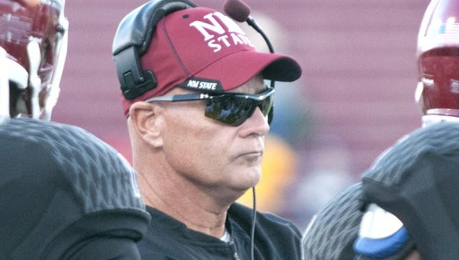 Doug Martin, head coach of the New Mexico State University football team, will take the field with his Aggies on Saturday to take on coach Sean Kugler and the UTEP Miners.
