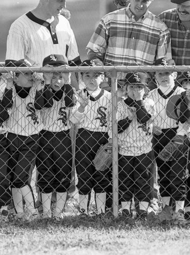 Northwood Little League game during 1993 opening day.