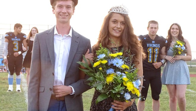 Central Heights seniors Luke Cotter and Cheyenne Higbie were crowned homecoming king and queen Friday before the football game.