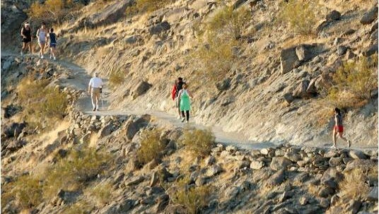 A hiker died on the Bump and Grind Trail in Palm Desert Saturday.