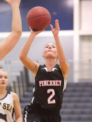 Chloe Hanifan of Pinckney shot well in the game against