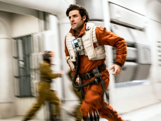 "Seen here in ""Star Wars: The Last Jedi,"" Oscar Isaac"