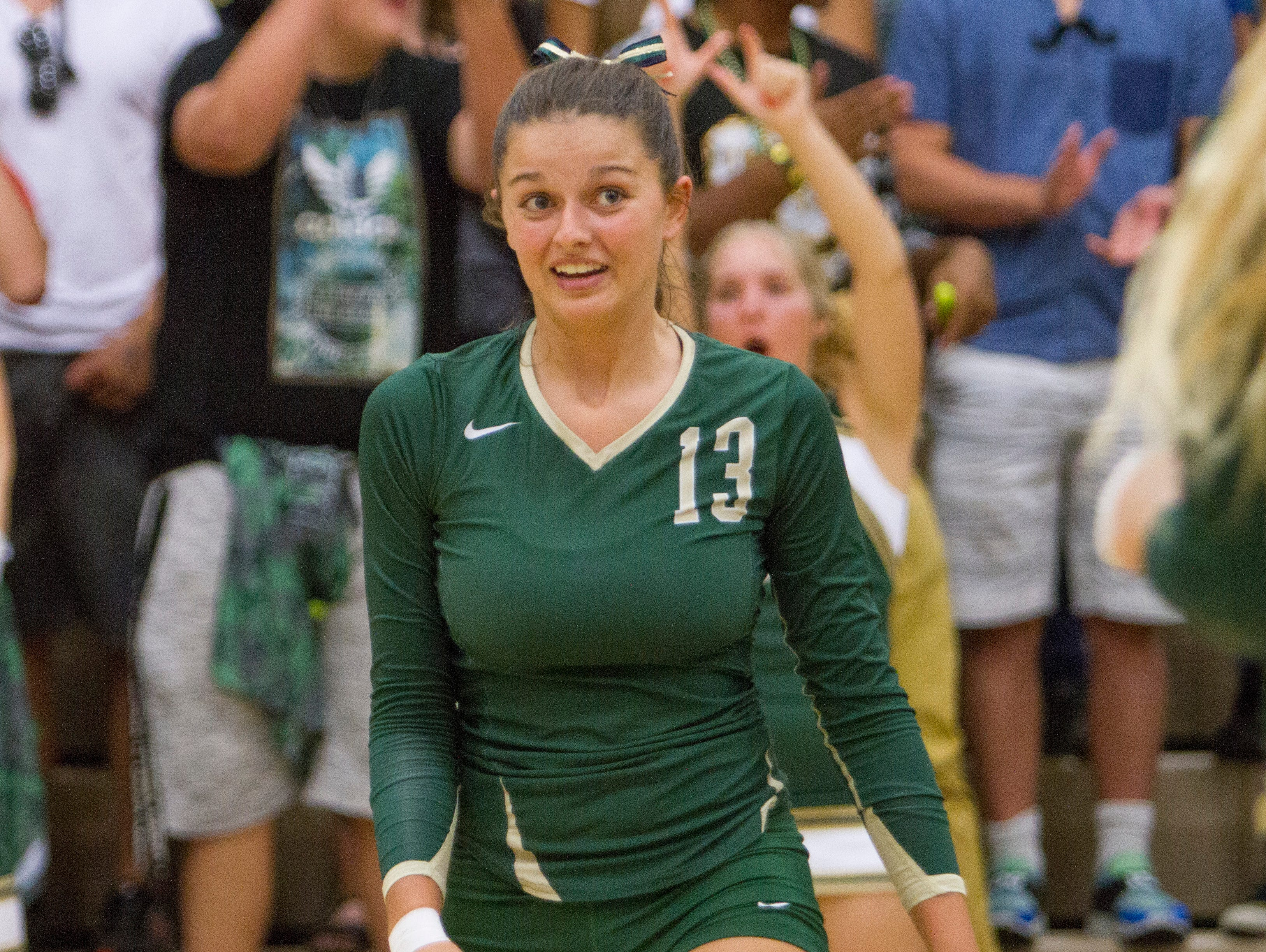 Snow Canyon volleyball beats Desert Hill in a 3-0 home game Thursday, Sept. 24, 2015.