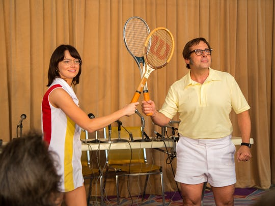 Emma Stone stars as Billie Jean King and Steve Carell