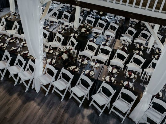 Rows of chairs are set out at The Loft on Isanogel
