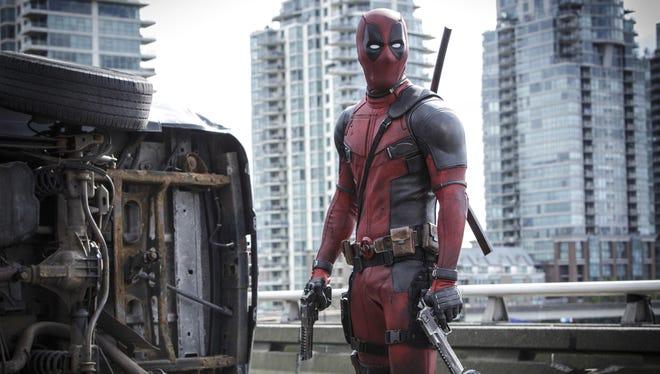"Ryan Reynolds stars in new the movie ""Deadpool."""