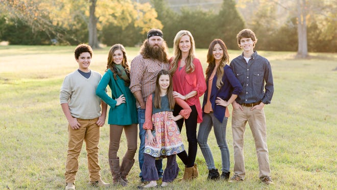 """Duck Dynasty's"" Willie and Korie Robertson and their children."