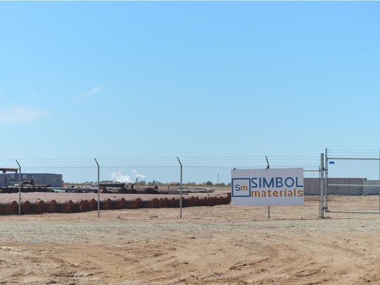 Simbol Materials' Imperial Valley demonstration plant sits dormant on April 29, 2016.