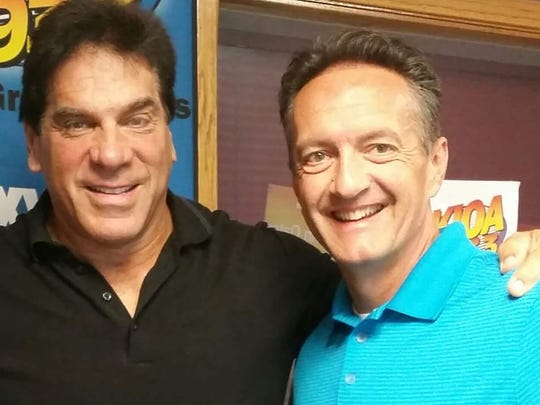 Des Moines radio personality Maxwell Schaeffer (right)