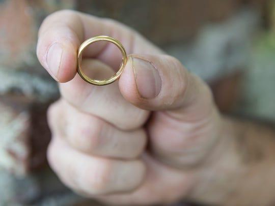 James Orefice found this wedding ring in Elsinboro,