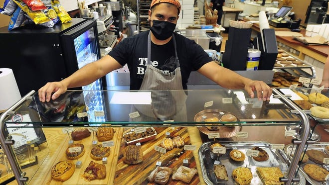 """Brandon Roderick, who owns The Baker on Pleasant Street in downtown New Bedford, said turnover is """"always higher"""" in small, owner-operated restaurants like his, but the loss of two key workers around the time of his reopening """"totally blindsided"""" him."""