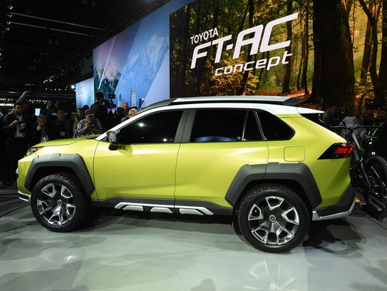 The Toyota FT-AC concept SUV is introduced during the