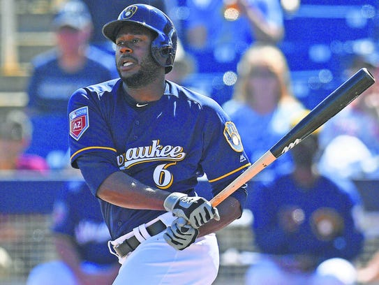 Outfielder Lorenzo Cain was one of the Milwaukee Brewers'