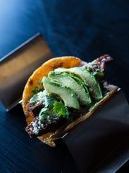 Crispy fish taco at Migo restaurant. July 10, 2017.