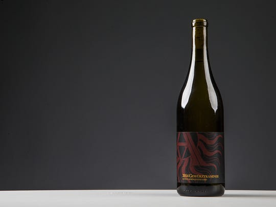 This is the winner of BEST IN SHOW, Arizona Stronghold Vineyards, 2014 Gewurztraminer, of the 2016 Arizona Republic Wine Competition, Monday, December 12, 2016.
