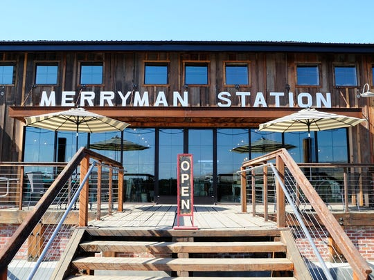 The restoration of the original Merryman Station as a gift shop and banquet facility with the new owner Amanda Thomas in Exeter on August 29, 2017.