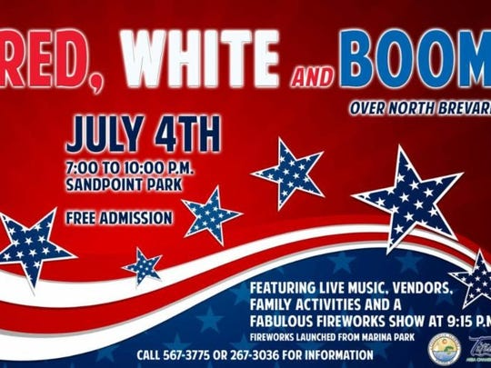 The Titusville Area Chamber of Commerce is partnering with the City of Titusville to organize the annual Red, White and Boom Over North Brevard event.