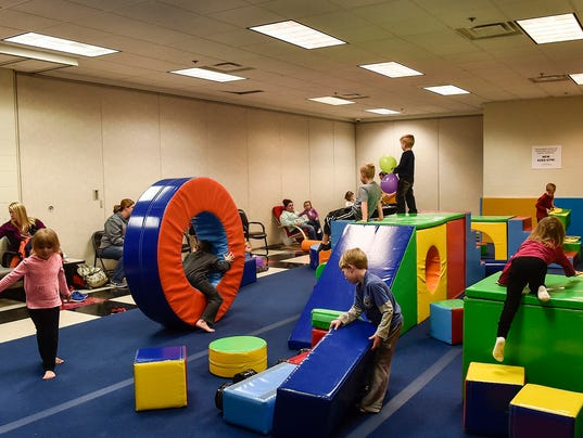Childs play remodeled kids gym open at ymca